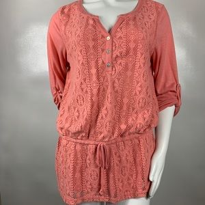 3For$20 Hannah Knit Top Size; Large Peach